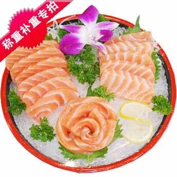 御棠红食品 海鲜刺身 三文鱼刺身 > 挪威三文鱼1克  _刺身拼盘补重量